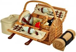Sussex Picnic Basket for Two with Blanket