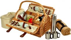 Sussex Picnic Basket for Two with Blanket and Coffee Service