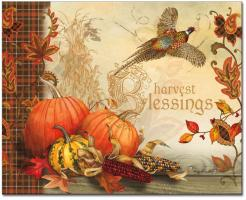CounterArt Harvest Blessings Glass Cutting Board