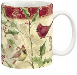 Cardinals & Holly Ceramic Mug