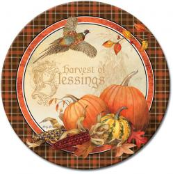 Harvest Blessings Glass Lazy Susan