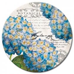 Botanical Hydrangeas Glass Lazy Susan