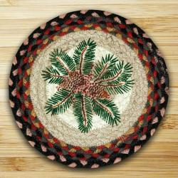Pinecone and Red Berry Braided Trivet