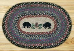 Black Bears Braided Placemat